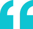Left quotation mark in solid teal