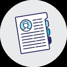 bio icon with pocket folder on transparent background